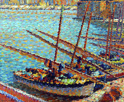 Water Droplets Sharon Johnstone - Boats at Collioure by Henri Martin
