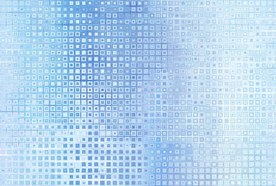 Royalty-Free and Rights-Managed Images - Bright abstract mosaic blue background with gloss by Julien