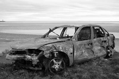 Western Art - Burned car II by Marcio Faustino