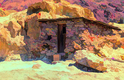 Bath Time Rights Managed Images - Calico Ghost Town Mining Shack Detail Royalty-Free Image by Snyder