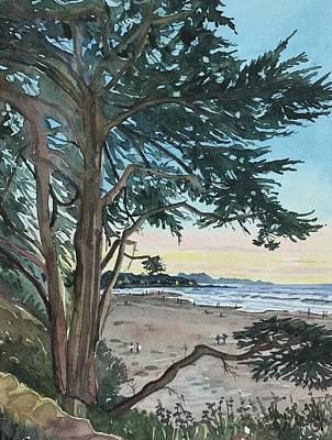Palm Trees - Carmel Beach by Luisa Millicent