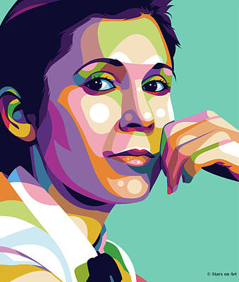 Royalty-Free and Rights-Managed Images - Carrie Fisher by Stars on Art