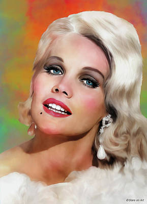 Royalty-Free and Rights-Managed Images - Carroll Baker illustration by Stars on Art