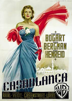Royalty-Free and Rights-Managed Images - Casablanca with Ingrid Bergman, 1942 by Stars on Art