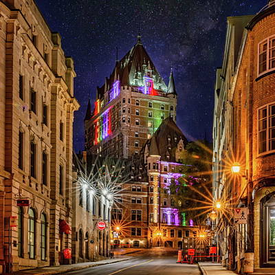 Ethereal - Chateau Frontenac at Night by Anthony Dezenzio