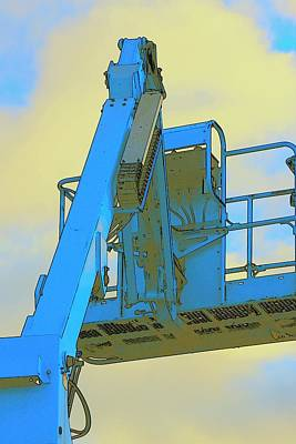 Jerry Sodorff Royalty-Free and Rights-Managed Images - Cherry Picker and Clouds by Jerry Sodorff