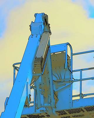 Jerry Sodorff Royalty-Free and Rights-Managed Images - Cherry Picker Detail by Jerry Sodorff