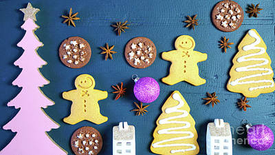 christmas cookie iphone wallpaper