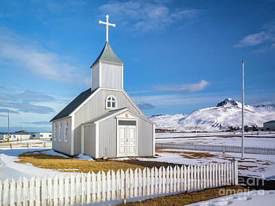 Royalty-Free and Rights-Managed Images - Church at Bakkagerdi, Iceland by Colin and Linda McKie