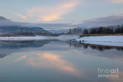Typography Tees - Clark Fork Mists by Idaho Scenic Images Linda Lantzy