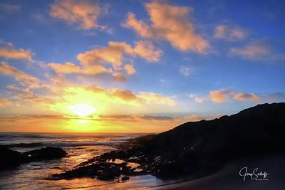 Jerry Sodorff Royalty-Free and Rights-Managed Images - Coast Sunset 17808 by Jerry Sodorff