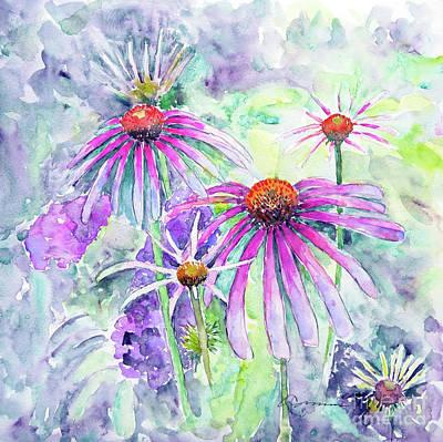 Painting - Coneflowers In Cool Hues by Claudia Hafner