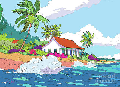 Royalty-Free and Rights-Managed Images - Cottage at Prospect Reef by John Clark