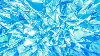 Royalty-Free and Rights-Managed Images - Crystal triangle background. vintage illustration, 3d rendering.  by Julien