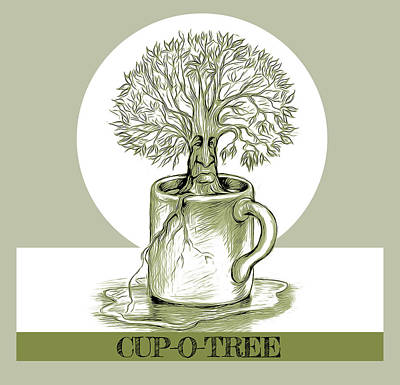 Royalty-Free and Rights-Managed Images - Cup O Tree by Greg Joens