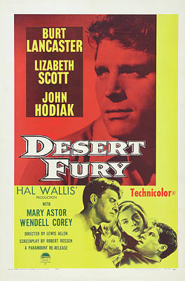 Royalty-Free and Rights-Managed Images - Desert Fury, with Lizabeth Scott and Burt Lancaster, 1947 by Stars on Art