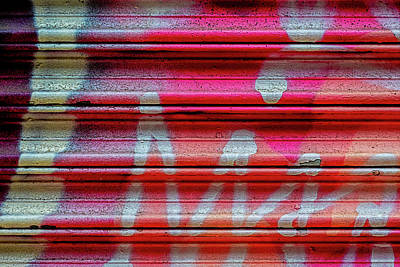 Truck Art Rights Managed Images - Detail of Graffiti on Metal Gate Royalty-Free Image by Robert Ullmann