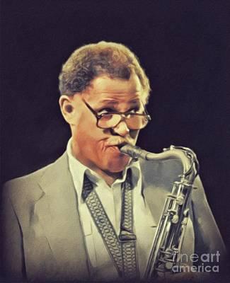 Music Paintings - Dexter Gordon, Music Legend by John Springfield