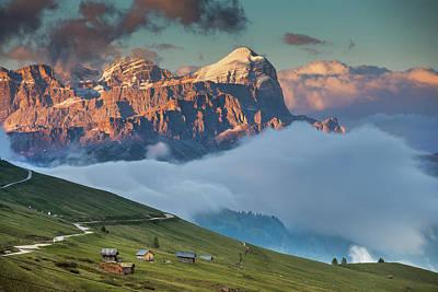 Farm Life Paintings Rob Moline - Dolomites, Italy by Cristian Mihaila