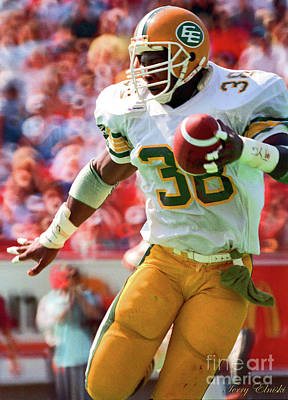 Af Vogue - Edmonton Eskimos Football - Brian Warren - 1988 by Terry Elniski