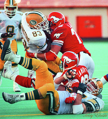 Af Vogue - Edmonton Eskimos Football - Chris Johnstone - 1988 by Terry Elniski