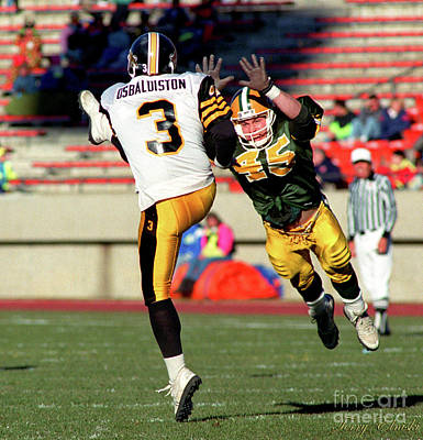 Sports Royalty-Free and Rights-Managed Images - EDMONTON ESKIMOS FOOTBALL - MIKE McLEAN - 1990 by Terry Elniski