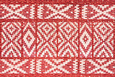 Royalty-Free and Rights-Managed Images - Ethnic Ornament On Natural Linen Textile by Julien