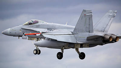 Surrealism Royalty Free Images - F-A-18 Hornet - Surreal Art Royalty-Free Image by Celestial Images