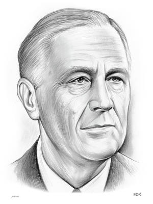 Drawings Royalty Free Images - Fdr Royalty-Free Image by Greg Joens