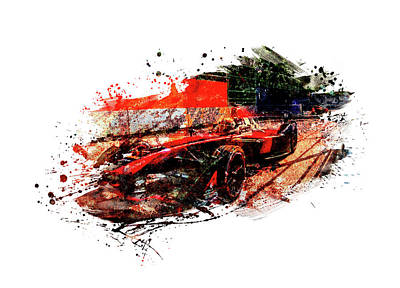 Sports Royalty-Free and Rights-Managed Images - Formula one racing car by All Sport Art