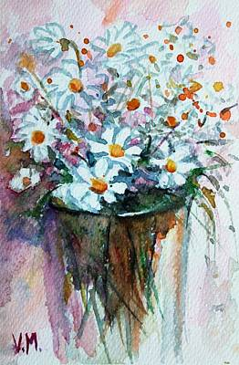 Wild Horse Paintings - White fragrant bouquet by Vesna Martinjak