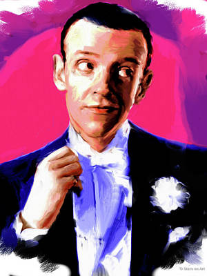 Curated Round Beach Towels - Fred Astaire by Stars on Art