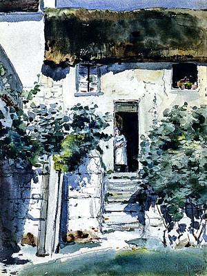 Thomas Kinkade - Frederick Childe Hassam 1859  1935  Girl in a Doorway 1883 by Artistic Rifki