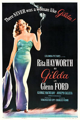 Mixed Media Royalty Free Images - Gilda, with Rita Hayworth and Glenn Ford, 1946 Royalty-Free Image by Stars on Art