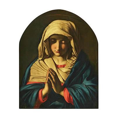Unicorn Dust - Giovanni Battista Salvi Il Sassoferrato Italy 1609 1685 Studio of Virgin Mary in prayer by Artistic Rifki