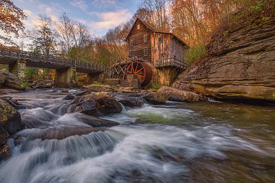 Royalty-Free and Rights-Managed Images - Glade Creek Grist Mill by Darren White