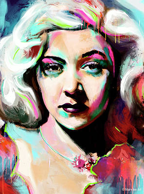 Train Paintings Rights Managed Images - Gloria Grahame Royalty-Free Image by Stars on Art