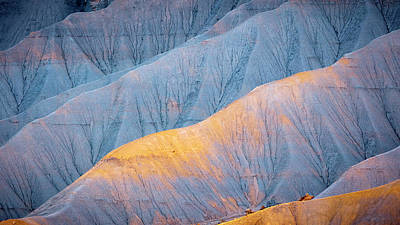 Landscapes Royalty-Free and Rights-Managed Images - Golden Badlands by Johnny Adolphson