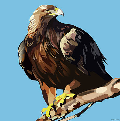 Royalty-Free and Rights-Managed Images - Golden Eagle by Stars on Art