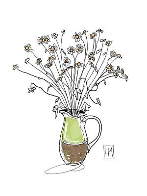 Fireworks - Green Jug by Luisa Millicent