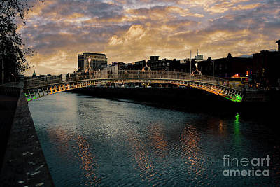 Fruits And Vegetables Still Life - Hapenny bridge Dublin by Patricia Hofmeester