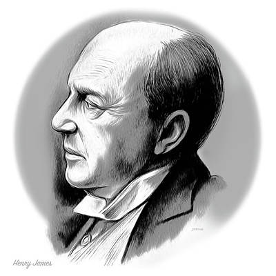 Mixed Media Royalty Free Images - Henry James Royalty-Free Image by Greg Joens