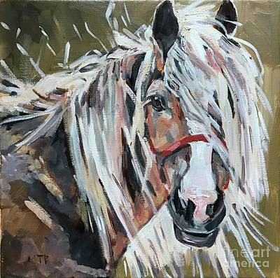 Painting - Horse Head  by Maria Reichert