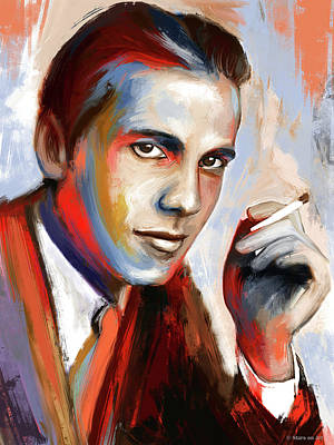 Royalty-Free and Rights-Managed Images - Humphrey Bogart by Stars on Art