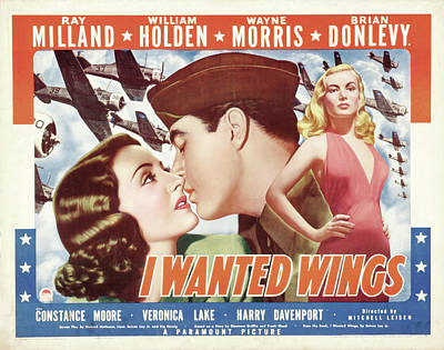 Mixed Media Royalty Free Images - I Wanted Wings, with Ray Milland and William Holden, 1941 Royalty-Free Image by Stars on Art