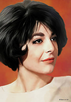 Royalty-Free and Rights-Managed Images - Anne Bancroft illustration 2 by Stars on Art