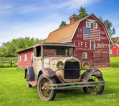 Royalty-Free and Rights-Managed Images - In God we trust barn by Inge Johnsson