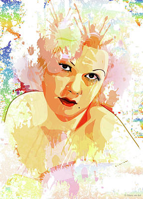 Train Paintings Rights Managed Images - Jean Harlow Royalty-Free Image by Stars on Art