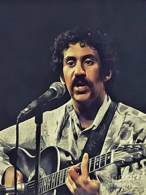 Painting Royalty Free Images - Jim Croce, Music Legend Royalty-Free Image by John Springfield
