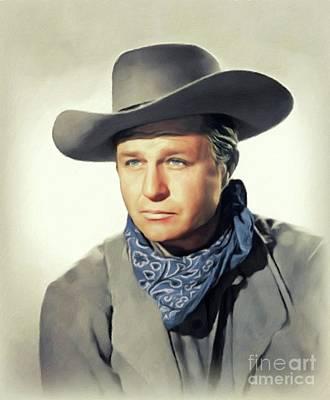 Typography Tees - Jim Davis, Vintage Actor by John Springfield